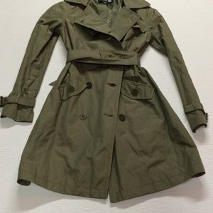 Forever 21 chic trench coat in military green